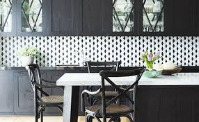 black and white tile kitchen ideas