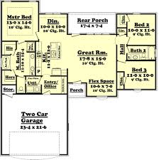 extravagant open floor plan house plans 1500 sq ft 3 ranch style