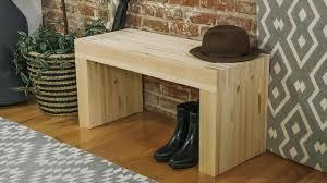 minimalist wood bench