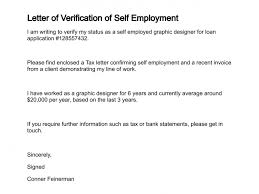 Example Letter Of Self Employment Filename My College Scout