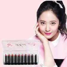 small sle women lipsick nourishing moisturizes 10 pic set lipstick easy wearing beauty makeup matte