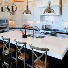 pure white color quartz stone kitchen countertop