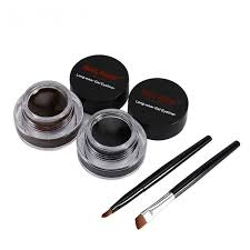 flower 2 brown black eyeliner gel cream lasting make up waterproof smudge proof cosmetics set eye liner brushes type eyelinerbenefit easy to wea