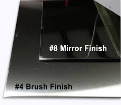 Stainless Steel Sheet Finishes Chart Metalsdepot Polished Stainless Sheet Brushed Mirror