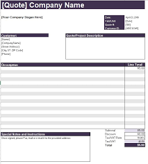 Computer Purchase Quotation Template 16 Ms Office Documents