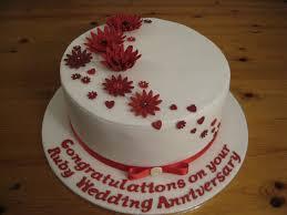 Ruby 40th Wedding Anniversary Cake Cake Ideas Anniversary Cake