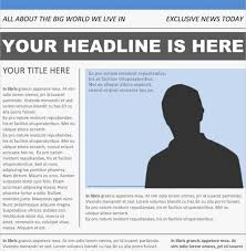 Newspaper Article Word Template Newspaper Front Page Template Word Selo Yogawithjo Co