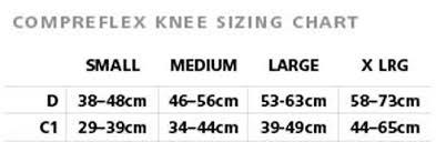 Compreflex Sizing Chart Sigvaris Compreflex Knee Wrap