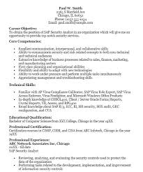 Security Job Objectives For Resumes Best Of 24 Free Sample SAP Security Analyst Resumes Best Resumes 24