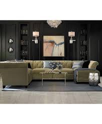 modular living room furniture. aubrey velvet fabric 6piece chaise modular shop all living room furniture