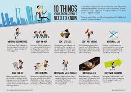 infographic things young professionals need to understand 10 things young professionals need to know