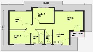 Small House Plans 3 Bedrooms 3 Bedroom House Plan South Africa Small House Plans 3 Bedrooms