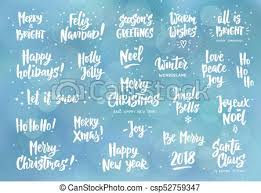 Holiday Wishes Quotes Awesome Set Of Holiday Greeting Quotes And Wishes Hand Drawn Text Great