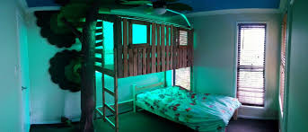 the boy s tree house bunk bed build