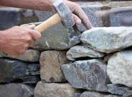 dry stone wall cost per m2 2019