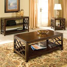 Coffee Table Set Of 3 Standard Furniture Woodmont 3 Piece Coffee Table Set In Brown
