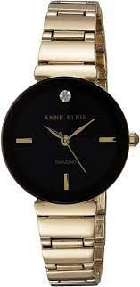 Amazon.com: Anne Klein Women's Japanese-Quartz Watch with Alloy Strap,  Gold, 13 (Model: AK/2434BKGB): Anne Klein: Watches