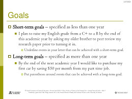 what are your short term goals essay