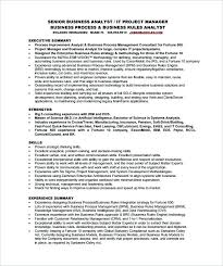 Resume Sample For Free Business Analyst Resume Example Yuriewalter Me