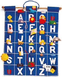Abc Wall Hanging Blue By Pockets Of Learning Abc Wall