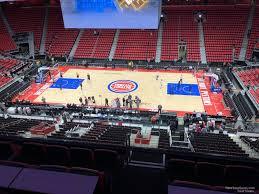 Detroit Pistons Seating Chart Little Caesars Arena Little Caesars Arena Mezzanine 27 Detroit Pistons
