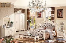 french bedroom sets. luxury french fancy antique design solid wood fabric bedroom furniture set with 4 doors bureau,night table,dresser,bed end stool-in sets from
