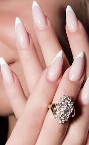 French Tip Stiletto Nail Designs Pin By Nola Cryo On Nailed It Pointy Nails French