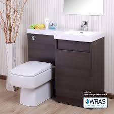 kitchen cabinets in bathroom. Oak Bathroom White Basin Vanity Unit WC Toilet Cabinet Furniture Set Right Hand - 1000mm: Amazon.co.uk: Kitchen \u0026 Home Cabinets In T
