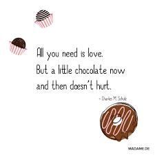 Lustiger Sprüche über Schokolade Bilder Madamede