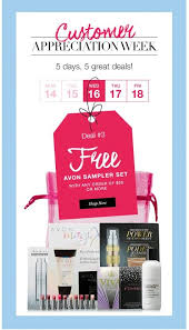 Delivery Order Sample Amazing Customer Appreciation Special FREE Avon Sampler Set Free Gift Offer