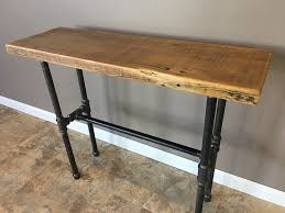 metal hall table. Industrial Reclaimed Wood Console Table With Black Pipe Metal Legs Hall