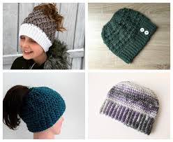 Ponytail Beanie Crochet Pattern Extraordinary 48 Crochet Messy Bun Hat Patterns