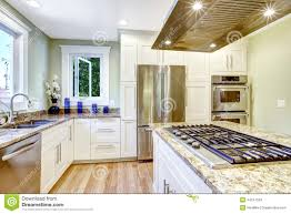 Kitchen Islands With Stove Kitchen Island With Built In Stove Granite Top And Hood Stock