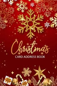 How To Address A Christmas Card Christmas Card Address Book Card List Tracker For Holiday