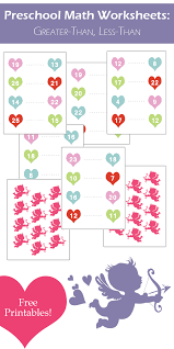 Valentines Day Math Worksheets >> Greater-Than, Less-Than