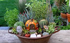 learn how to make this fall fairy garden container garden fairy garden containers