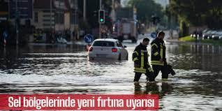Almanya'da sel bölgelerinde yeni fırtına uyarısı