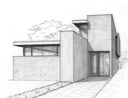 Interesting Architecture Houses Sketch A Perspective For House In The City With Perfect Ideas