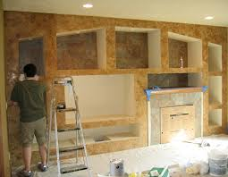 fireplace accent wall shadow box italian finishes bella faux finishes sioux falls