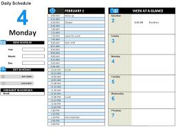 Daily Planner Template Excel Week Calendar Weekly For Free