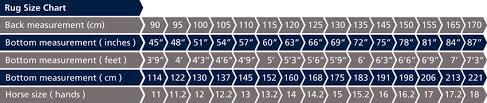 Shires Rug Size Chart Shires Tempest Original Lite Turnout Rug