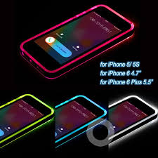 Call Flash Light In Iphone New Cheap Tpu Pc Led Flash Light Up Case Remind Incoming