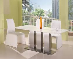 Dining Room Elegant White Rectangle Dining Table Design With - Modern interior design dining room