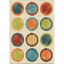 orian rugs kids polka dots circle sketch multi area rug 3 10 x 5
