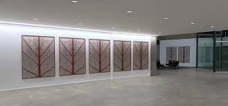 fossil decorative wall art in copper colour on laser cut wall art panels with decorative wall art for large entrances i custom designs