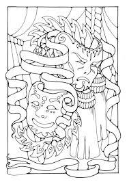 Kleurplaat Maskers Afb 16377