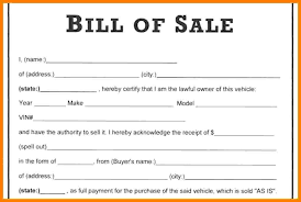 example of bill of sale 5 sample bill of sale for used car sample travel bill