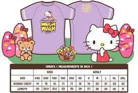 Hello Kitty Size Chart Hello Kitty Run Moon Walk Edition 2019 On Spacebib
