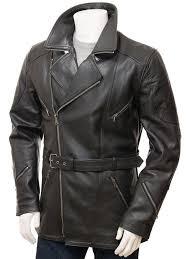 image 1 black asymmetrical leather jacket