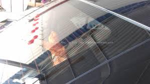 rear windscreen clean from water marks
